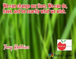 we can change our lives - tony robbins